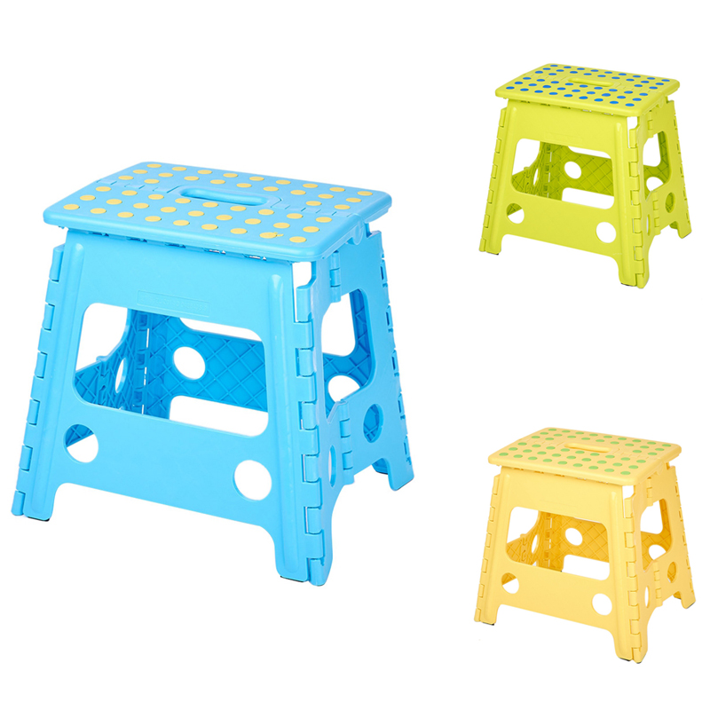 Folding Step Stool Portable Chair Seat for Home Bathroom Kitchen Garden Camping Kids Handle Portable Folding Stool