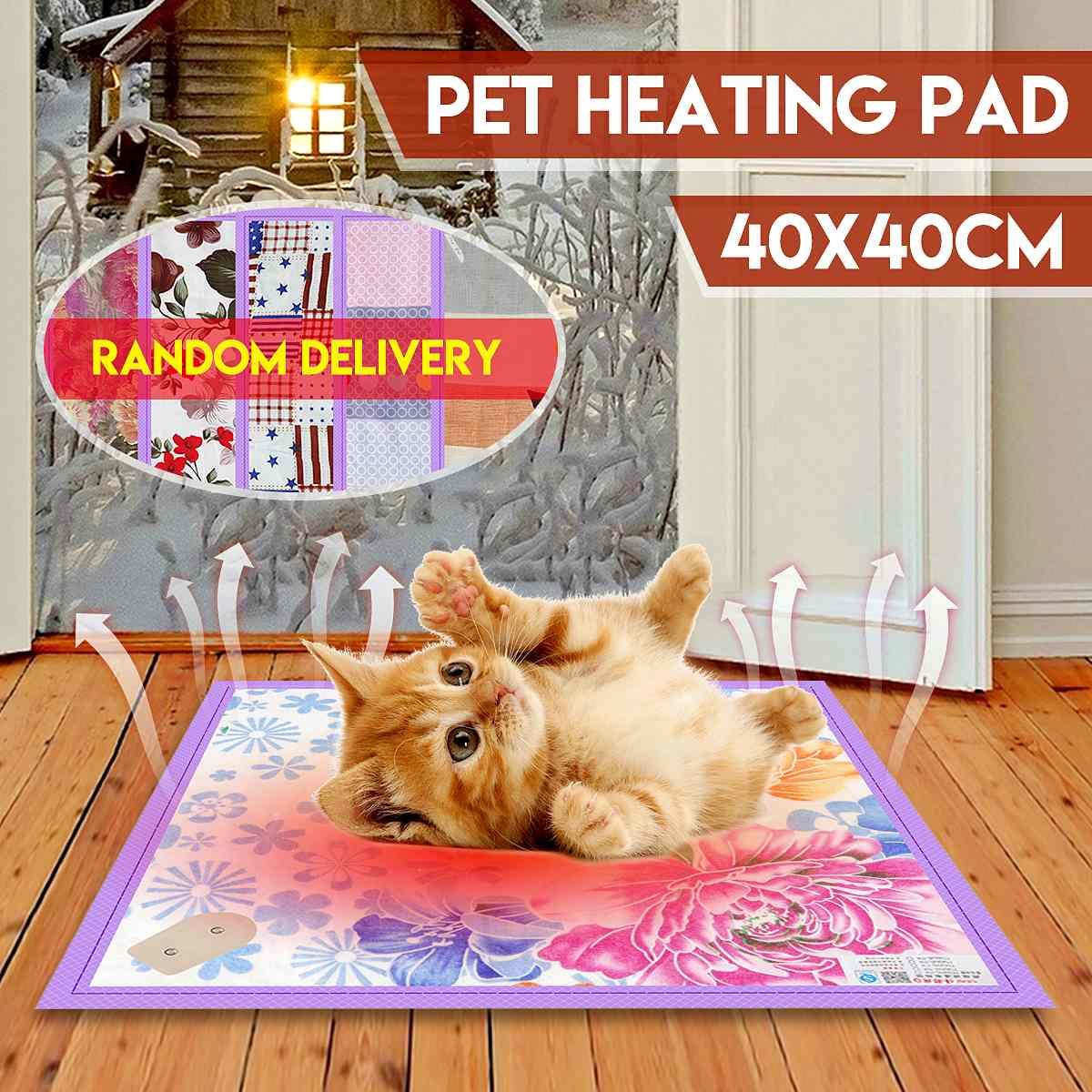 40x40cm Pet Electric Heating Pad Blanket 220V 20W Dog Cat Bunny Electric Heater Mat Blanket Bed Heated Seat Winter Body Warmer