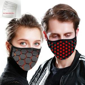 Image 2 - Masque unisexe en Fiber de bambou, Anti Pollution, Anti allergie, respirateur Anti poussière, pièce de rechange lavable, réutilisable, 4 pièces
