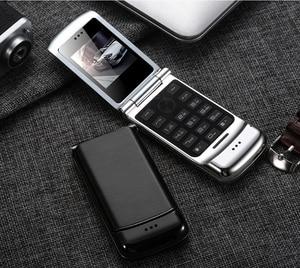 "Image 5 - Original Ulcool V9 Luxury Flip Phone 1.54"" Dual Sim Camera MP3 Bluetooth FM Dialer Anti lost Metal Body Mini Mobile Phone"