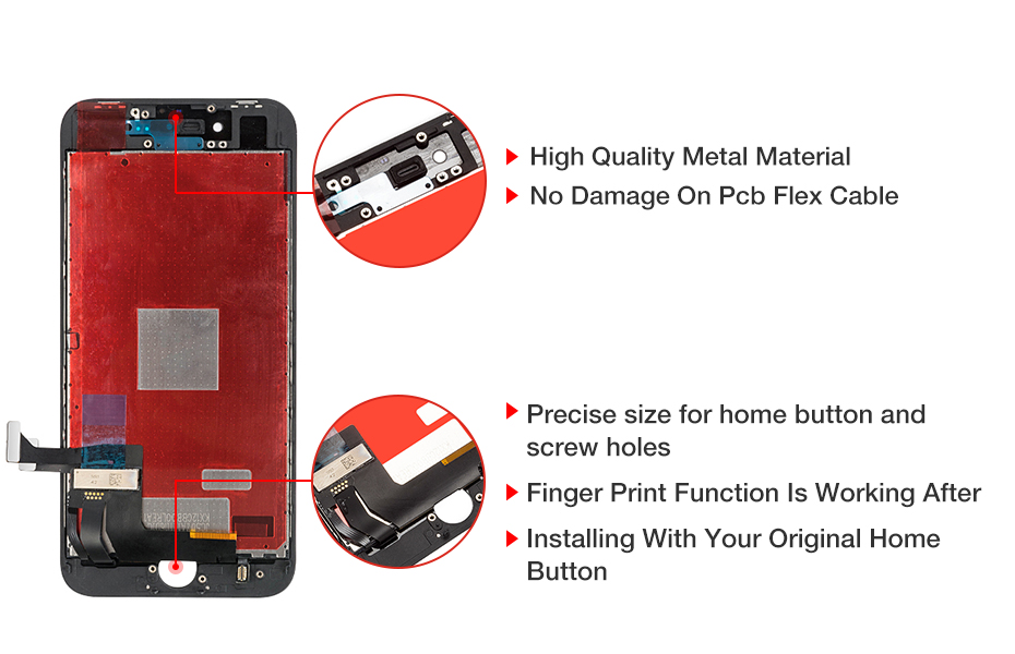 H92768d77a46a4bd188204be18a1bda86y Grade AAA+++ Screen For iPhone 8 8 Plus LCD OEM Display Digitizer Assembly Replacement With 3D Touch Warranty  Lens Pantalla