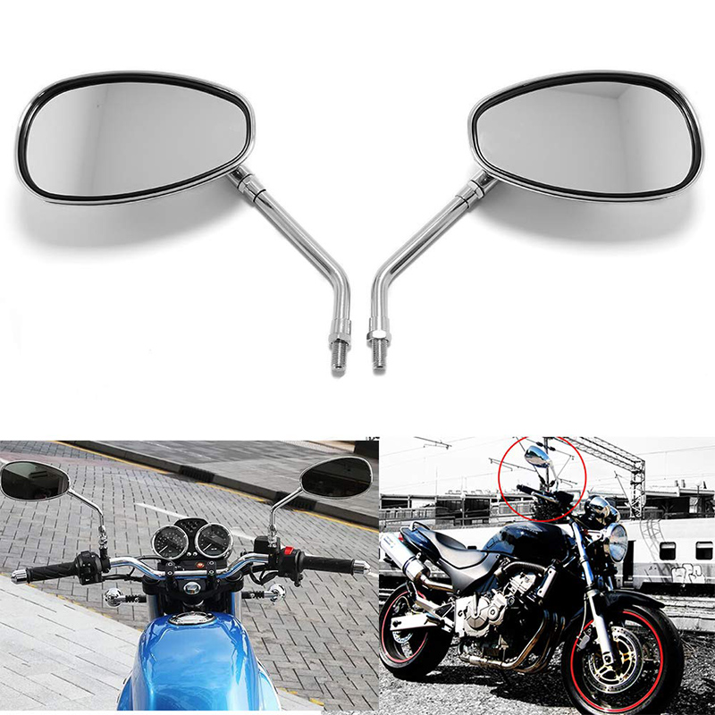 DERI 1 para boczne lusterka motocykla lusterka aluminium szkło bezbarwne lustro pasuje do Honda cień Ace duch Magna VT750 VT1100 VF750