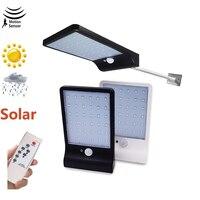 48 светодиодных солнечных уличных садовых светильников для безопасности солнечные лампы датчик движения энергосберегающие водонепроницае...