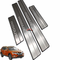 For Auto Styling Nissan Rogue Stainless Steel Door Sill Trim Cover Scuff Plate Guard Door Sills Protect Car Sticker Accessories