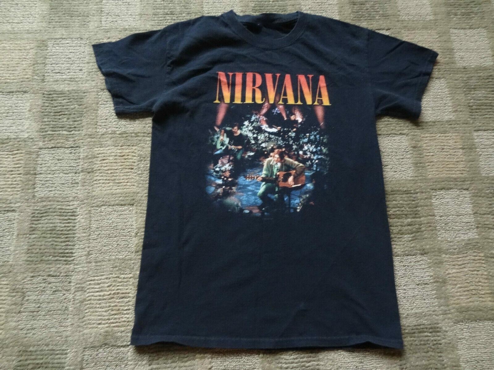 2008 Nirvana T-Shirt noir débranché petit groupe de Tour pour hommes