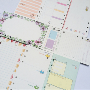 Scrap booking Planner Organizer Refills Papers for 6-Rings Binder Notebook A5 A6 A7