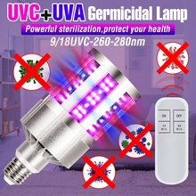 Led UV Germicidal Corn Light E27 Led Ultraviolet Bactericidal Lamp 220V Ozone Lampada UV Desinfectante Bulb 9 18 Leds 110V 280nm