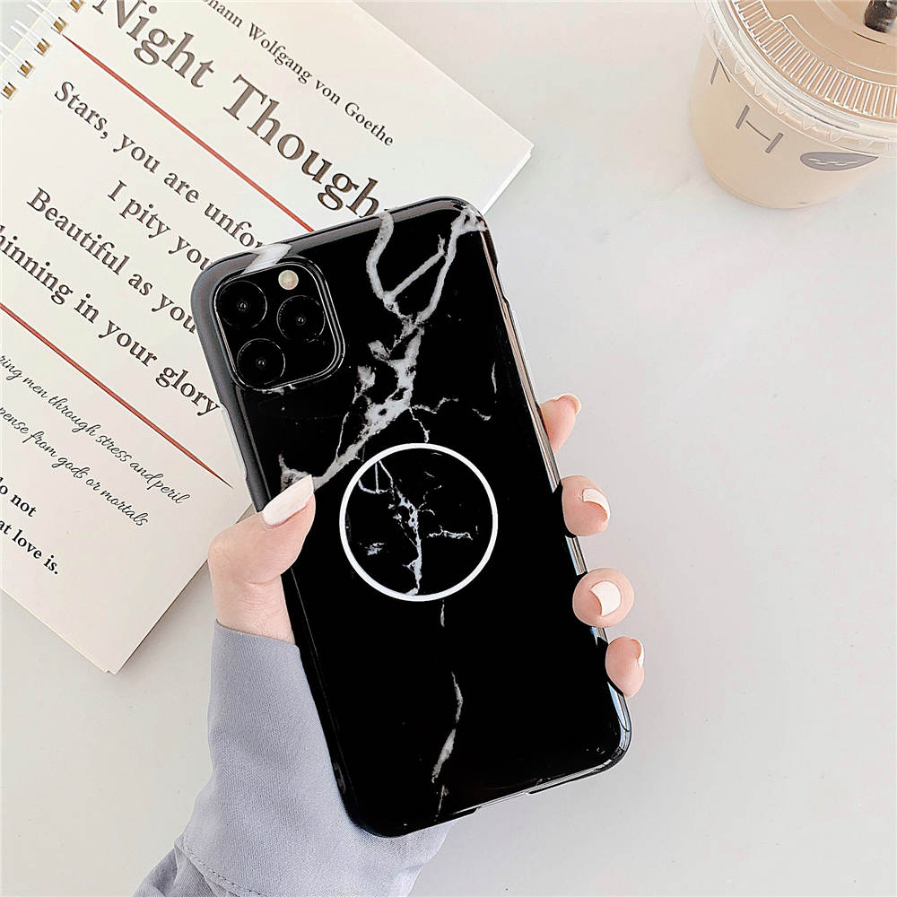 Luxury Marble Stand Phone Back Cover Shell For iPhone 11 Pro X XR XS Max 7 8 6 6S 21