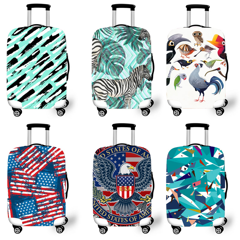Elastic Luggage Protective Cover Case For Suitcase Protective Cover Trolley Cases Covers 3 Travel Accessories Camouflage Pattern