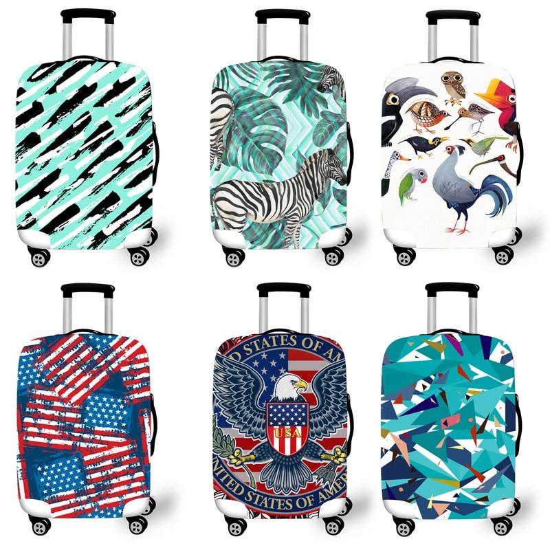 Protetora para Cases Acessórios de Viagem Padrão de Camuflagem Bagagem Elástica Case Capa Carrinho Covers 3 Mala Protetora