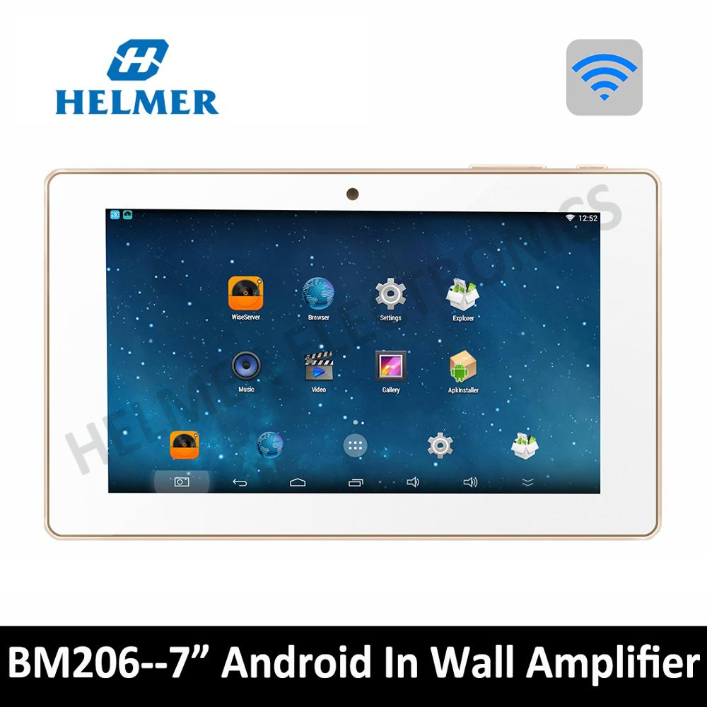 BM206 HELMER WIFI Amplifier in Wall Stereo Audio System with 7 Touch Screen Video Player White