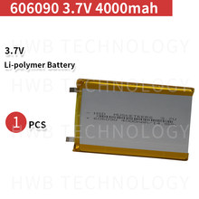 3000mAh 606090 3.7V lithium polymer lipo battery rechargeable li ion cell for E-Book GPS PSP DVD Power bank Tablet PC(China)