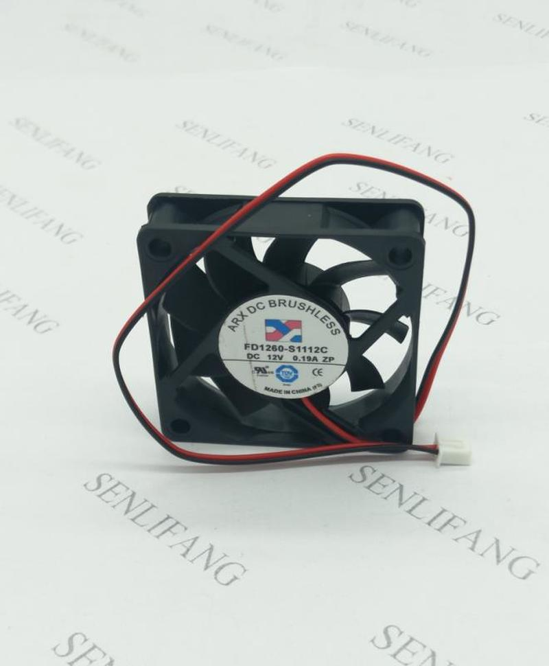 For ARX FD1260-S1112C DC 12V 0.19A 60X60X15mm Server Cooler Fan Free Shipping