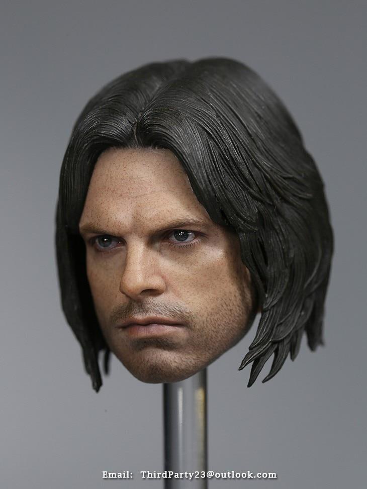 1//6 AMERICA Captain 3 Winter Soldier Bucky 2.0 Head Sculpt F12/'/' Body Figure Toy