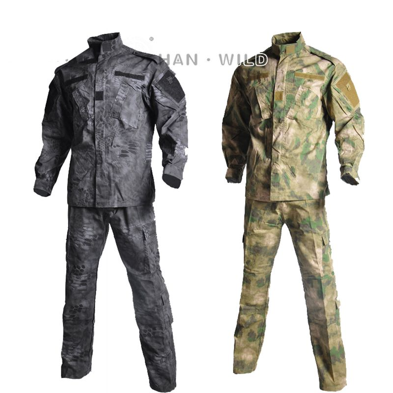 High Quality Army Outdoors Military Uniform Camouflage Tactical Combat Hunting Clothes Trekking Camping Men's Clothing Sets|Hunting Ghillie Suits|   - title=