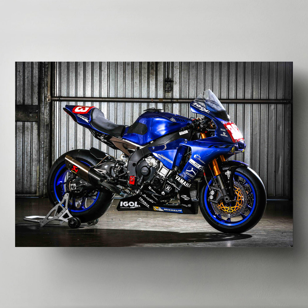 Ducati 848 Superbike Wall Art Print Poster Modern Home Room Decoration