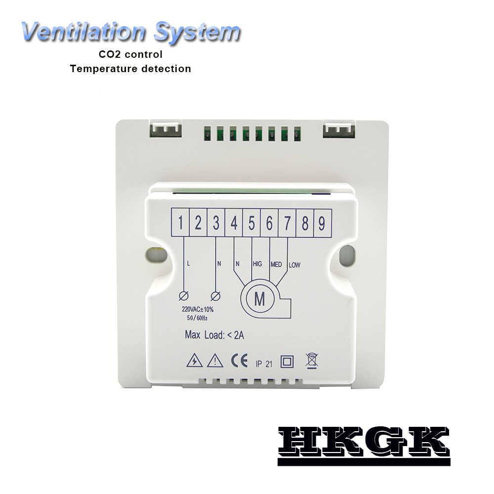 Temperatura 、 visualizzazione テンポディ aria di controllo ディ qualità CO2 350-1500ppm ディ regolazione あたり正日 controllo remoto
