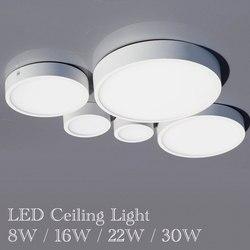 Oprawa led typu downlight otwarta 8W 16W 22W 30W lampa sufitowa kwadratowa okrągła led skylight AC 90-260v oświetlenie wewnętrzne ciepły biały zimny
