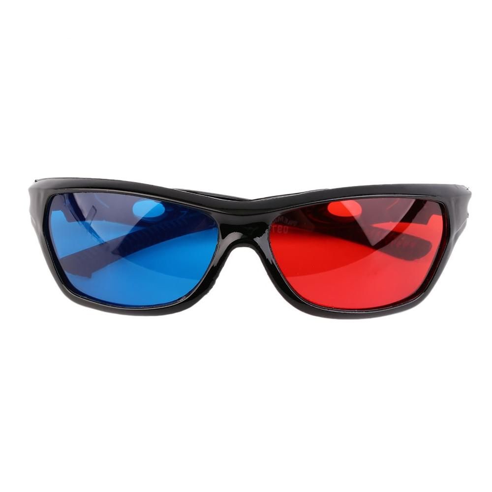 Universal 3D Glasses New Black Frame Red Blue 3D Vision Glass For Dimensional Anaglyph Movie Game DVD Video TV image