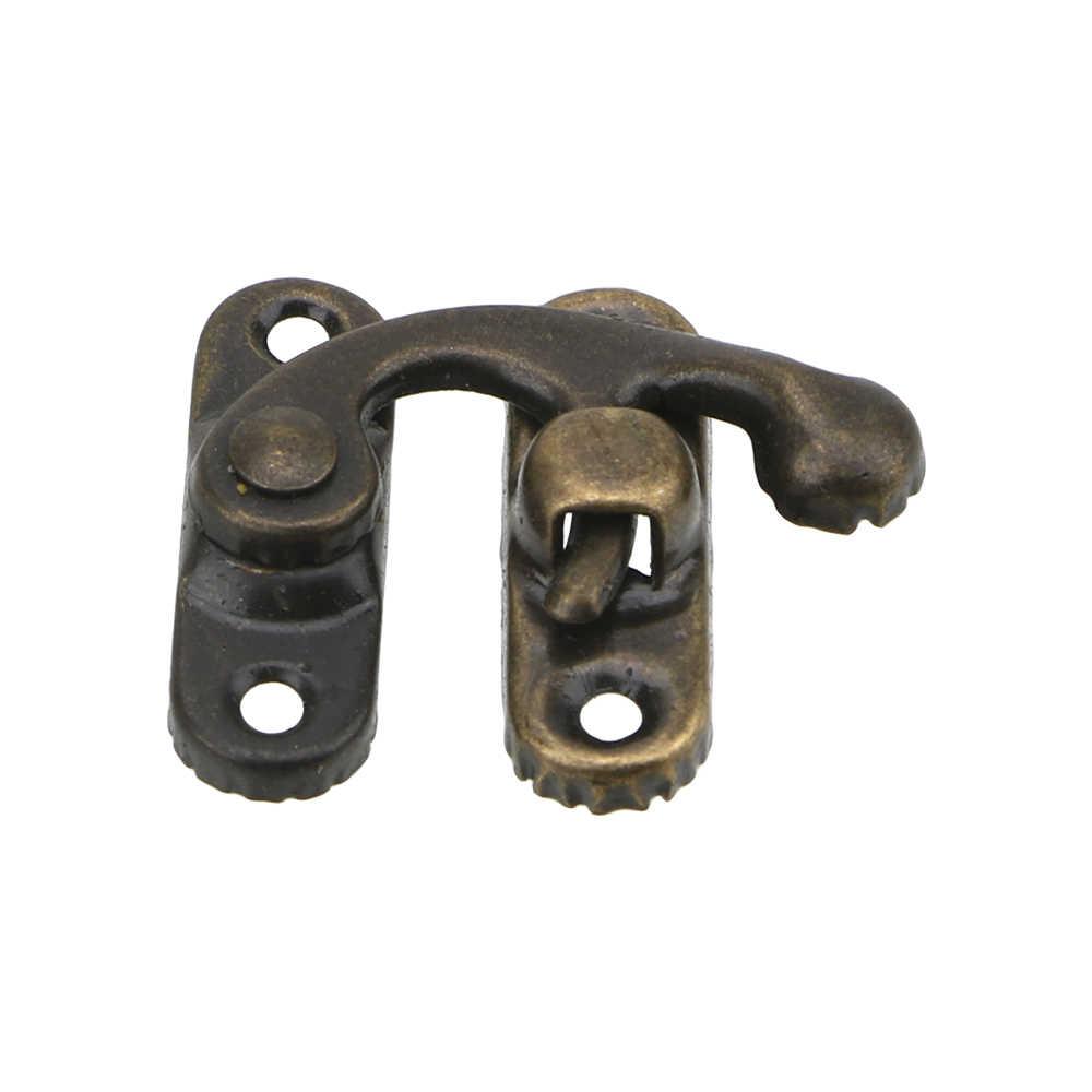 NICEYARD 1PC 小さなアンティーク金属ロック装飾ハスプフックギフト木製ジュエリーボックス南京錠ネジ家具ハードウェア