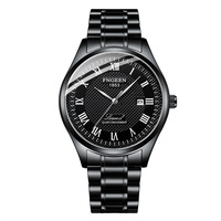 2019 nowa luksusowa marka biznes zegarki mechaniczne dla mężczyzn czarny mężczyzna zegarek 5Bar wodoodporny pełna stali nierdzewnej męskie zegarki Montre Homme