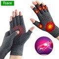 Tcare 1 пара анти артрит здоровья компрессионная терапия перчатки ревматоидного ручной боли запястья спортивные Безопасность перчатки удобн...