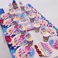 158/95 pcs Shimmer E Brilho Crianças Festa de Aniversário Favor Decorações Suprimentos Louças Copo Descartável Guardanapo Palha Chapéu de Blowout