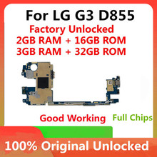 16GB 32GB Für LG G3 D855 Original Motherboard Fabrik Entsperrt Mainboard Mit Voller Chips Android OS System Logic bord