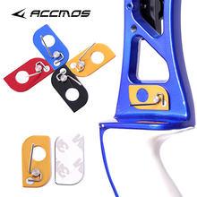 2 pçs/lote novo aço inoxidável magnético seta resto tiro com arco da mão direita e esquerda para arco recurvo acessório