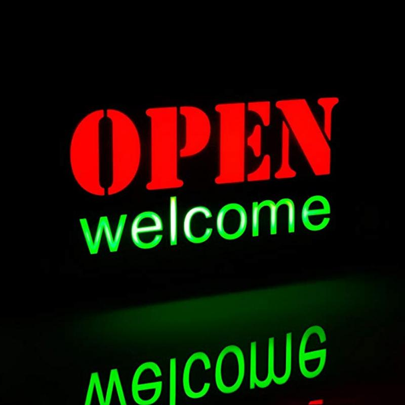 Fashion LED Open Sign Advertising Lights Neon Light For Cafe Bar Pub Restaurant Store On Off Switch Sign Lighting US/EU Plug