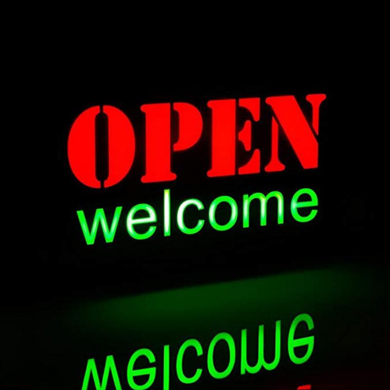 Fashion LED Open Sign Advertising Lights Neon Light For Cafe Bar Pub Restaurant Store On Off Switch Sign Lighting US/EU Plug