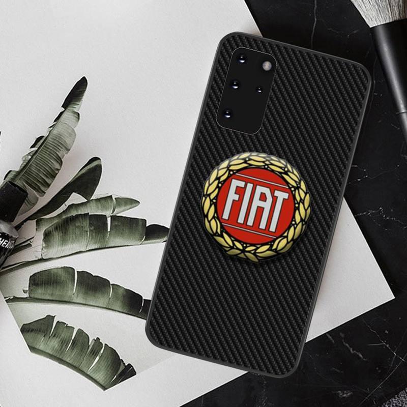 PENGHUWAN Fiat Car Logo Fashions Black TPU Soft Rubber Phone Cover for Samsung S20 plus Ultra S6 S7 edge S8 S9 plus S10 5G