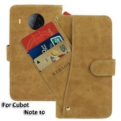 На Алиэкспресс купить чехол для смартфона vintage leather wallet cubot note 10 case 6.51дюйм. flip luxury card slots cover magnet phone protective cases bags
