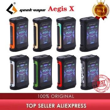 Original 200W Geekvape Aegis X Box Mod Power by Dual 18650 Battery Max 200W & IP67 waterproof Vape Mod Box vs Aegis solo/ gen