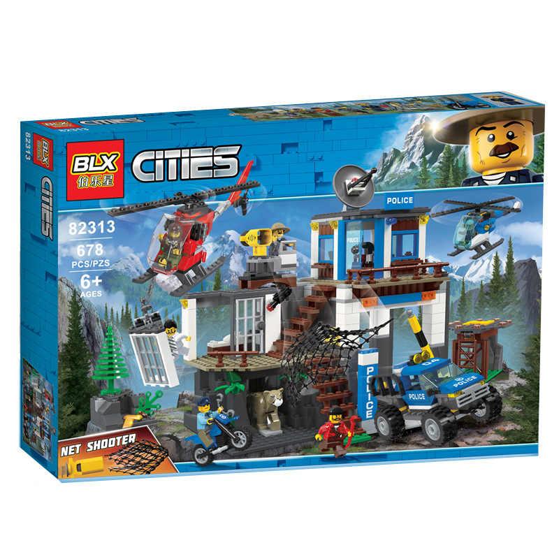 Legoed Speciale Della Polizia Generale Isola Prigione Administration Building block Compatibile con Legoed Assembl FAI DA TE Per Bambini Giocattoli Regali