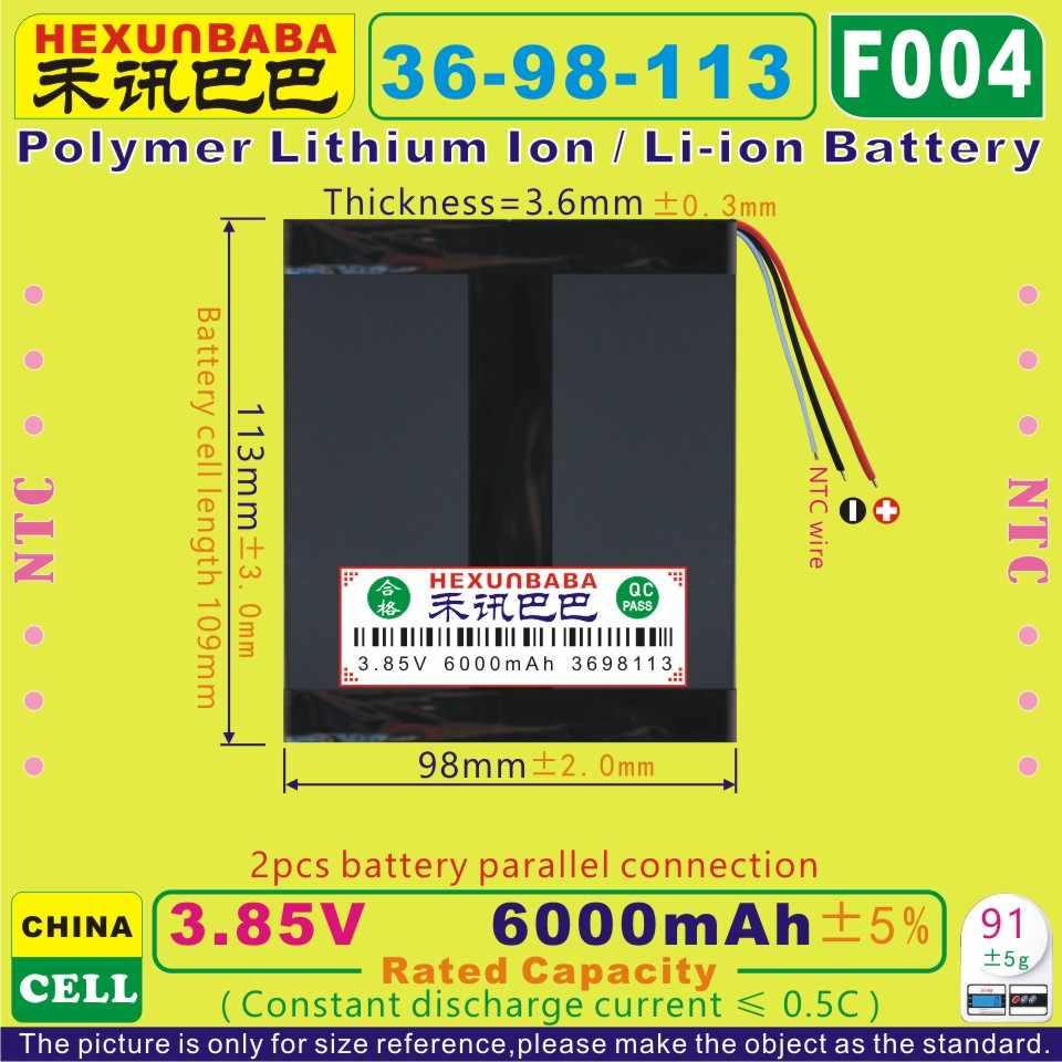 [F004] 3.85 v, 3.8 v, 3.7 v 6000 mah [3698113] bateria de íon de lítio de polímero/li-ion para tablet pc, telefone celular; e-book, banco de potência