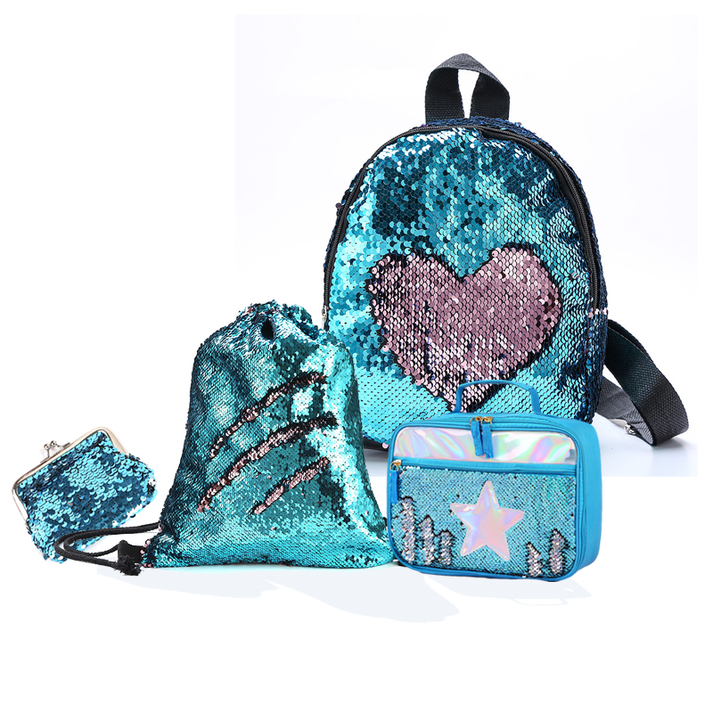 gift message su528 Personalised blue sequin gym bag with any text photo