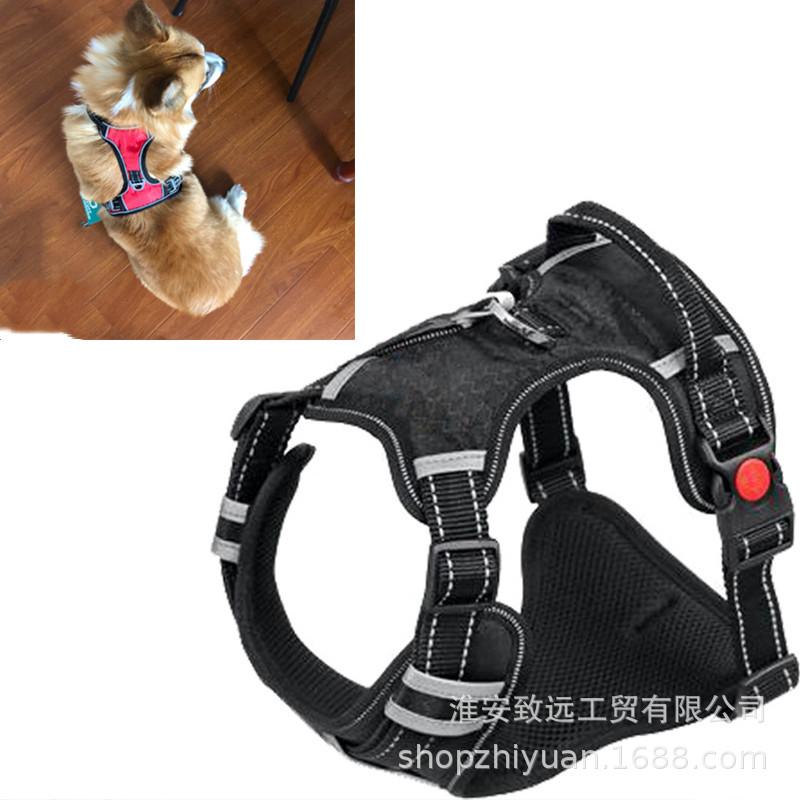 Golden Retriever Husky Dog Neck Ring Chest And Back With Traction Big Dog Chest And Back Medium-sized Dog Large Dog Chest And Ba