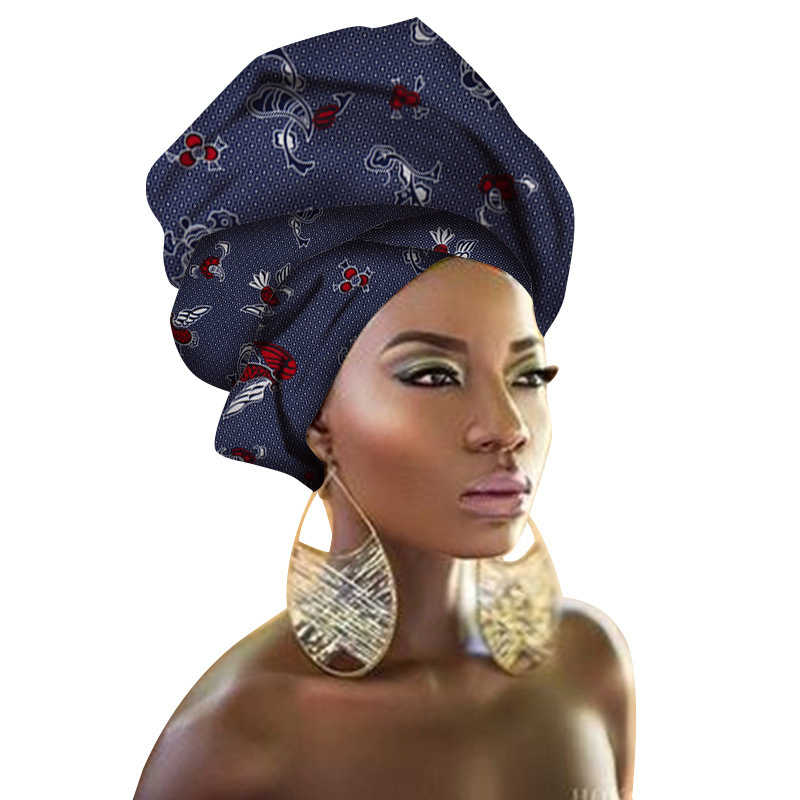 الأزياء طباعة عمامة الأفريقي وشاح عقال المرأة إكسسوارات الشعر الفتيات رئيس التفاف العصابات التقليدية الغنية بازان Dashiki الملابس