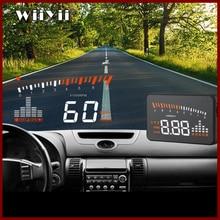 GEYIREN 2019X5 OBD2 Head Up Display 속도계 앞 유리 프로젝터 RPM Speed Alarm 카 EU OBD HUD 디스플레이 auto 전자
