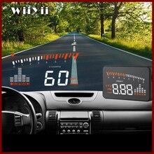GEYIREN 2019X5 OBD2 Tête Up Affichage Compteur De Vitesse Pare Brise Projecteur RPM Vitesse Dalarme De Voiture UE OBD HUD Affichage auto Électronique