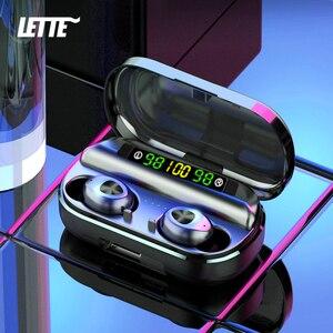 Image 1 - Bluetooth 5.0 Wireless Earphones Sport Waterproof 9D Hifi Stereo Earbuds With Microphone 2000mAh Charging Box