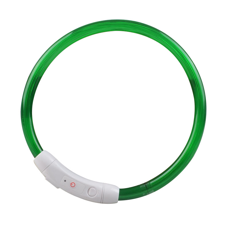 LED Dog Collar Light USB Rechargeable Glowing Dog Collars Luminous Pet Flash Night USB Charging Pet