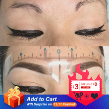 20Pcs Disposable Tattoo Sticker Ruler Self adhesive Permanent Makeup Microblading Tool For 3D Eyebrow Shaping Tattoo Accessories