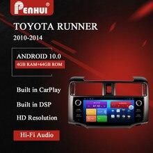 Автомобильный DVD-плеер на Android для Toyota 4runner (2010-2014), автомобильное радио, мультимедийный видеоплеер, навигатор GPS, Android 10,0, двойной DIn