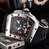 2019 Watch Luxury Mens watches quartz stopwatch all function all pointers work Richard miller watch waterproof man women