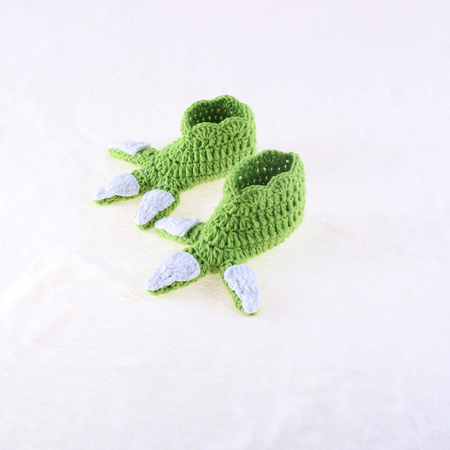 Yoda Style Newborn Infant Baby Photography Prop Crochet Knit Costume Set Handmade Toddler Cap Outfits for Baby Shower Gift (9)