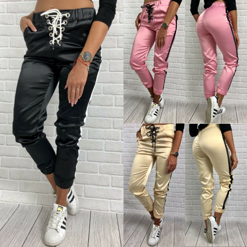 New Jogger Sweatpants Patchwork Hip Hop Streetwear Casual Trousers Men Women Workout Pants Fitness Stretch Trousers