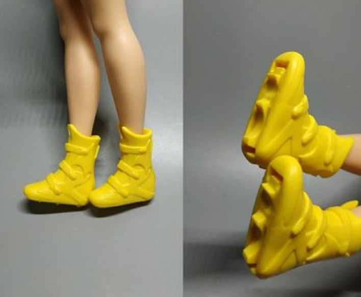 Yeni stiller oyuncak ayakkabı yüksek topuk ayakkabı düz ayak ayakkabı kırmızı ayakkabılar sarı ayakkabı uzun boylu ve yağ BB bebek A112