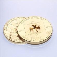Moneda conmemorativa de la guerra de las monedas, moneda hueca chapada en oro auténtico de 24k